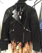 Manteau Perfecto Zara Cuir Bi Matiere Sold Out 34 Et 36 | eBay