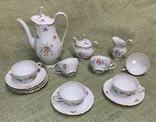 New listing Schirnding Bavaria Porcelain Tea / Espresso Serving Set For 6 Pot, Sugar, Cream