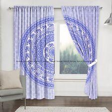 Elephant Circles Mandala Cotton Bohemian Window Balcony Valances Curtains Drapes