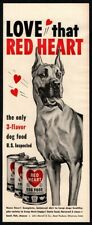 1950 Red Heart Dog Food - Cute Great Dane Dog - Scooby-Doo Vintage Ad