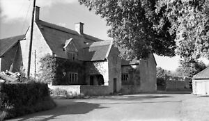 B/W Negative Chicksgrove Wiltshire Village Village Scene 1949 +Copyright W59