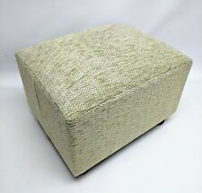 Footstool / Small Stool / Pouffe / Gift/ Green Herringbone Chenille British Made