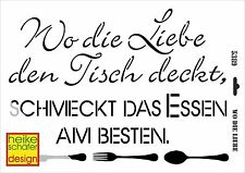Schablone - A3 - Art.Nr. 056-5389  Wo die Liebe den Tisch... -  Heike Schäfer