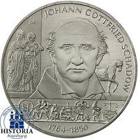 Deutschland 10 Euro Gedenkmünze 2014 bfr. Johann Gottfried Schadow in Münzkapsel