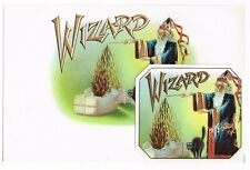 IN & OUT CIGAR BOX LABEL VINTAGE C1920 WIZARD MAGIC SORCERER BLACK CAT HALLOWEEN