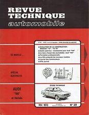 REVUE TECHNIQUE AUTOMOBILE 321 RTA 1973 AUDI 100 RENAULT 12 & R12 TS
