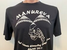 Manureva Cook Islands Kitesurfing Competition M Medium Tee Jersey Kite Surfing