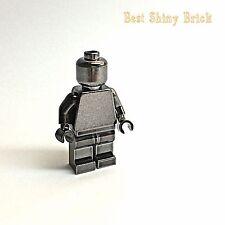 Lego Chrome Black Plain Mini Figure *New*
