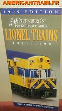 Greenberg's Guides Lionel Trains Pocket Price Guide 1901-1999