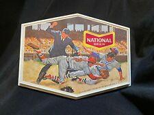 Vintage 12x10 inch Plastic National Beer Advertising Sign - Baseball - Baltimore