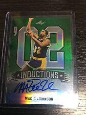 2012-13 Leaf Metal Basketball Magic Johnson Inductions Green Auto Autograph 9/10