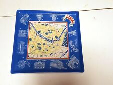 Paris Street Map Porcelain Plate Platter Tray NEW ROSANNA,'Voyage'