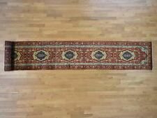 "2'7""x17'7""Antiqued Heriz Re-Creation Pure Wool XL Runner Hand-Knotted Rug R40384"