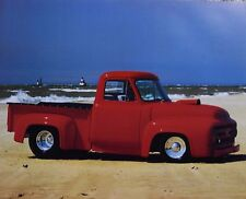 Classic Ford F-100 Red Pickup Truck Vintage Collector Car Art Print 16x20