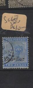 ZANZIBAR   (PP0705B)  QV ON INDIA  2A  SG 6E       VFU