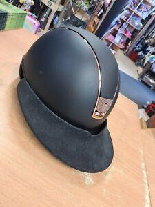 Samshield Polo Visier Schirm black alcantara Reithelm Reitkappe helmet riding