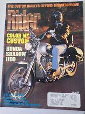 Rider Magazine Honda Shadow 1100 Touring Trio February 1992 051117nonrh