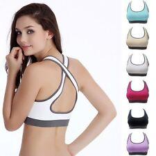 mujer sujetador con relleno Espalda De Nadador Top deportivo camiseta