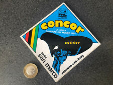 Concor Selle San Marco Saddle,Vintage 1980's Sticker