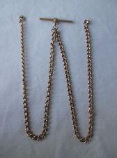 Antique Edwardian 9ct Gold Watch Albert Chain.
