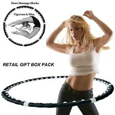 PROFESSIONAL HULA HOOP WEIGHTED MAGNETIC FITNESS EXERCISE MASSAGER ABS WORKOUT
