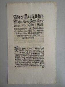 Verordnung - Marine Stärkung See Macht Militaria Braunschweig Stade - 1755