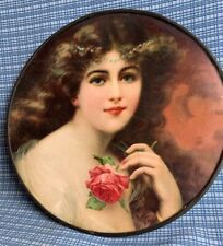 Flue Cover Lot #14 Beautiful Victorian Woman Portrait w/ Rose