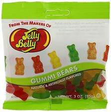 GUMMI BEARS  - Jelly Belly Candy Jelly Beans - 3 oz BAG - 12 PACK