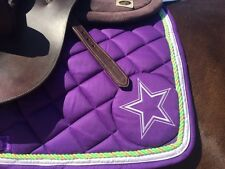 English AP Saddle Pad Only (Black, Purple, Green; for horse charity)