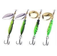 4PCS Spinner Fishing Lure Bass Metal Spinnerbait Jig Treble Hook Spoon 15.5g/9cm