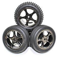 Traxxas Bandit Front Rear Alias All Star Wheels Rims Tires Black Chrome VXL XL5
