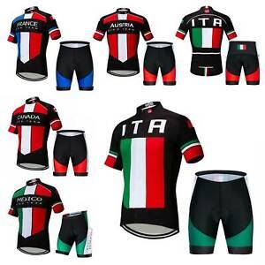 2021 Team Radsport Trikot Set Fahrradbekleidung Radtrikot und Shorts Radhose