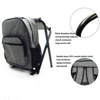 Fishing Packing Bag Backpack Camping Foldable Stool Seat Chair Kit Camo Outdoor