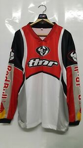 Vintage Motocross THOR Red Bull Long Sleeve T-Shirts Size M Nos