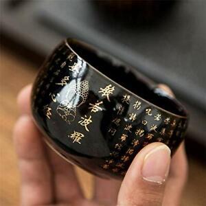1pc Ceramic Heart Sutra Teacup Leaf Master Cup Zen Buddha Water Mug Home Decor