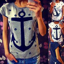 Fashion Women Casual Short Sleeve Loose Summer Cotton T-shirt Tops Shirt Blouse