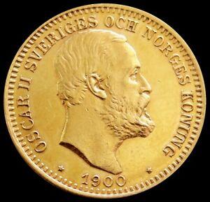 1900 EB GOLD SWEDEN 20 KRONOR 8.9606 GRAMS COIN