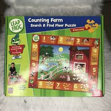 LeapFrog Counting Farm Search & Find 48pc Floor Puzzle Count 1-10 Complete Used