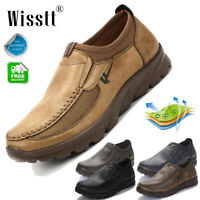 Men's Leather Casual Smart Shoes Business Moccasins NonSlip Driving Work Shoes