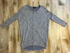 """MCM"" Women's Blue and White  3/4 sleeve, Hi-Lo Sweater sz M"
