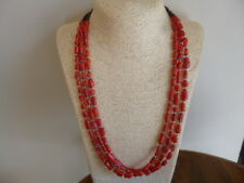 Red Coral With Shell Heishi Beads And Silver Native American Navajo Necklace