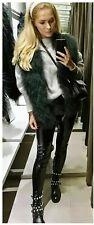 Zara Faux Fur Gilet Jacket Coat Size Small