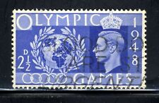 1948 Great Britain👑 Stamp  Scott #271 A113 2-1/2p Brt Ultra Olympics Canc/NH