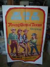 YOUNG GUNS OF TEXAS, orig 1-s / movie poster (James Mitchum, Alana Ladd)  1963