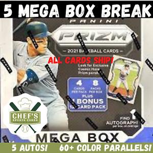 PHILADELPHIA PHILLIES- 2021 PANINI PRIZM BASEBALL 5 MEGA BOX (1/4 CASE) BREAK #9