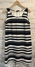 Tommy Hilfiger Sleeveless  Sheath Dress Navy Blue White Striped SMALL 4