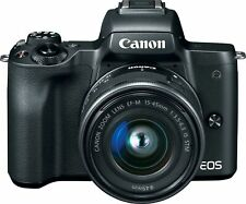 Canon - EOS M50 Mirrorless Camera w/ EF-M 15-45mm f/3.5-6.3 IS STM Zoom Lens