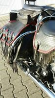 SADDLEBAGS GUARD RAIL BAR HARLEY Heritage SOFTAIL  SPRINGER CLASSIC 97-99 FLSTS
