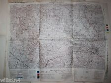 WWII Army field used Map US 29th Division Villedieu-les-Poeles February 1944