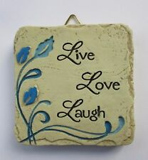 b Live Love Laugh Mini Plaque fairy garden stepping stone Ganz Polystone